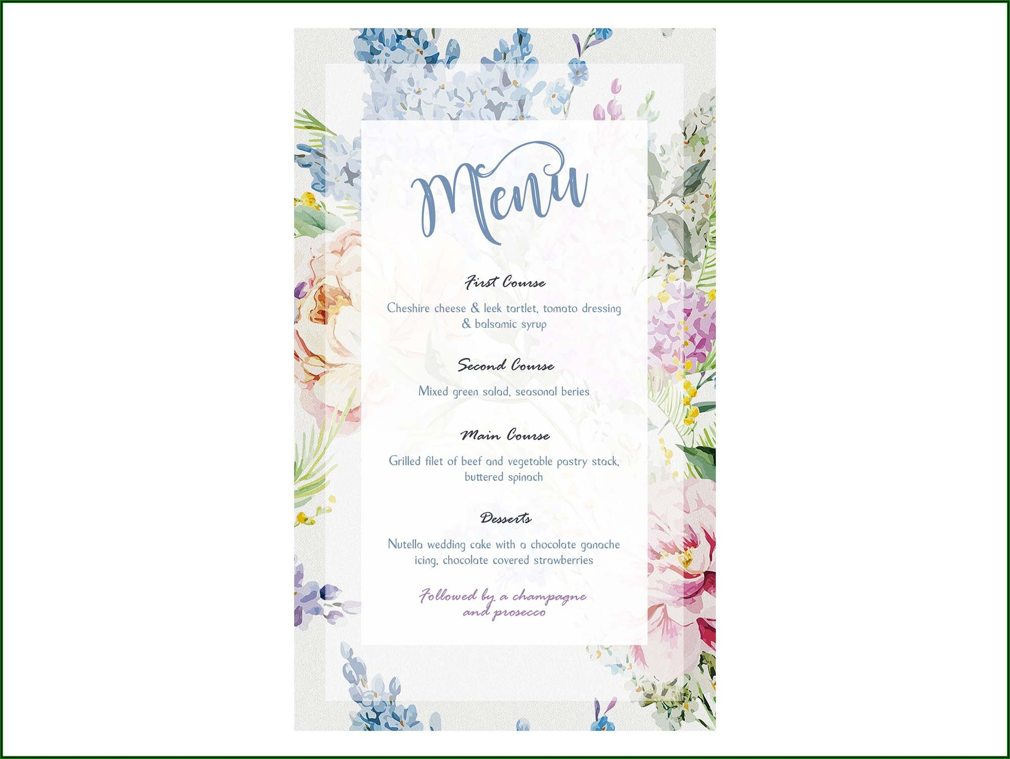Floral Invitation Template Free Download