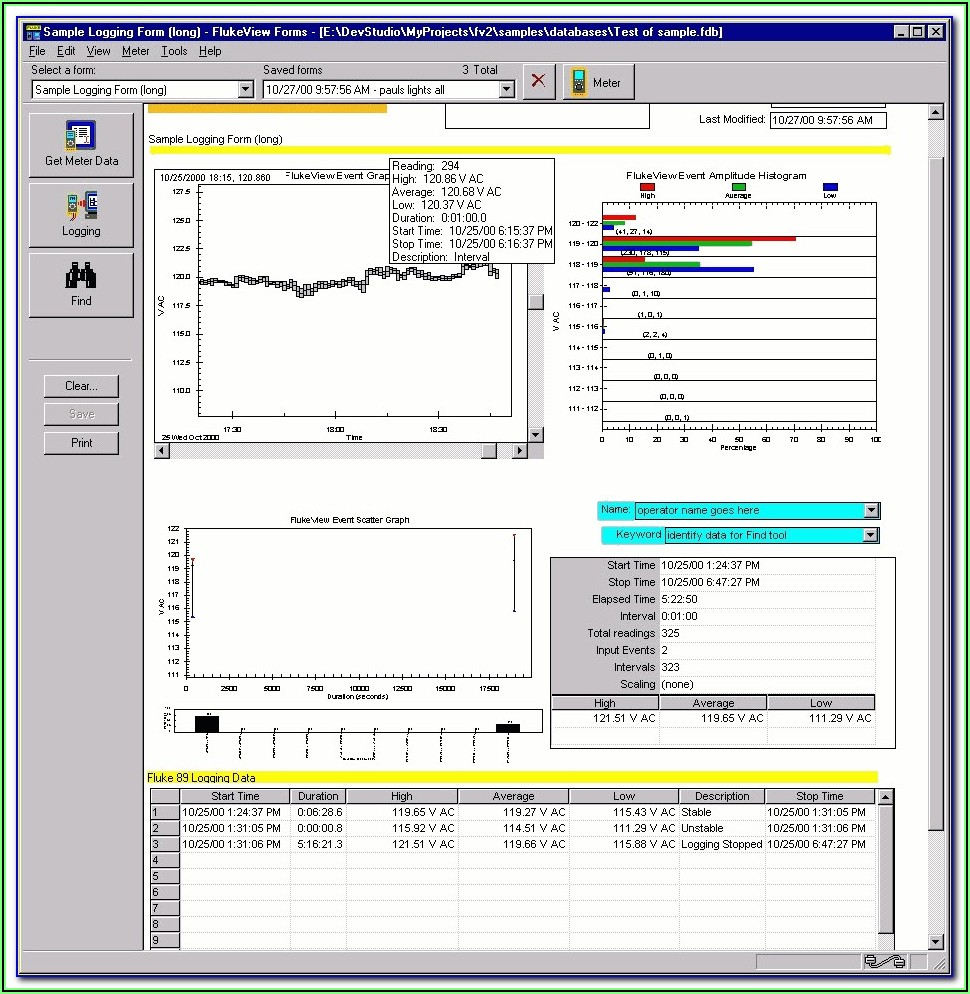 Flukeview Forms Software And Cable