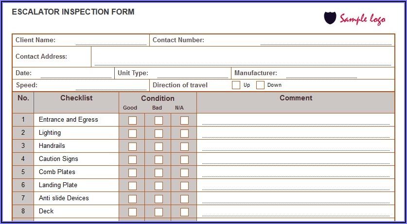 Forklift Operator Checklist Template
