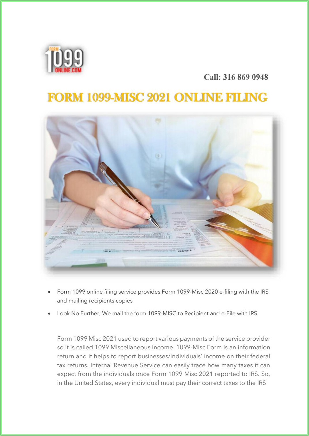 Form 1099 Misc Box 7