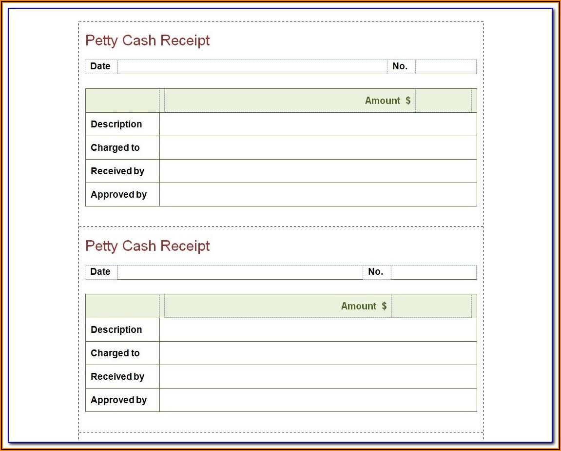 Free Blank Cash Receipt Form