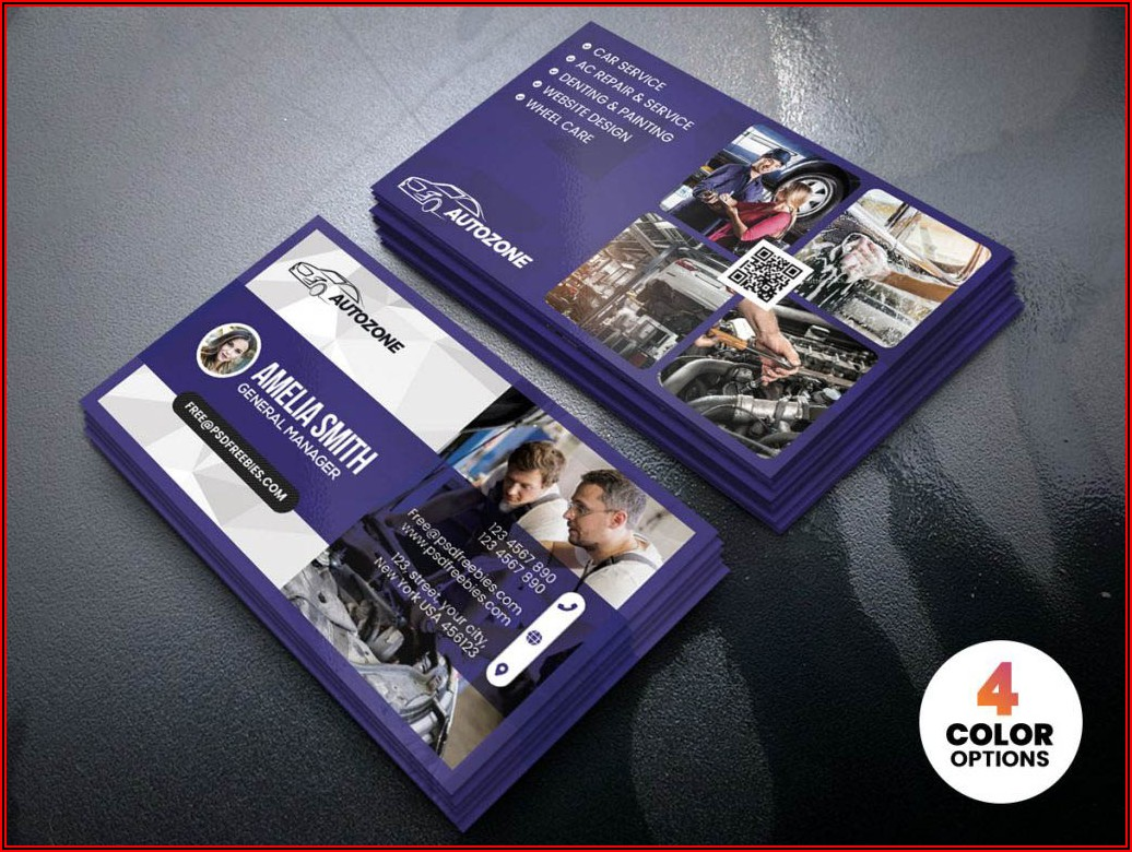 Free Business Card Templates For Automotive Repair