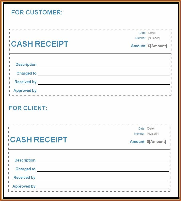 Free Cash Receipt Format In Word