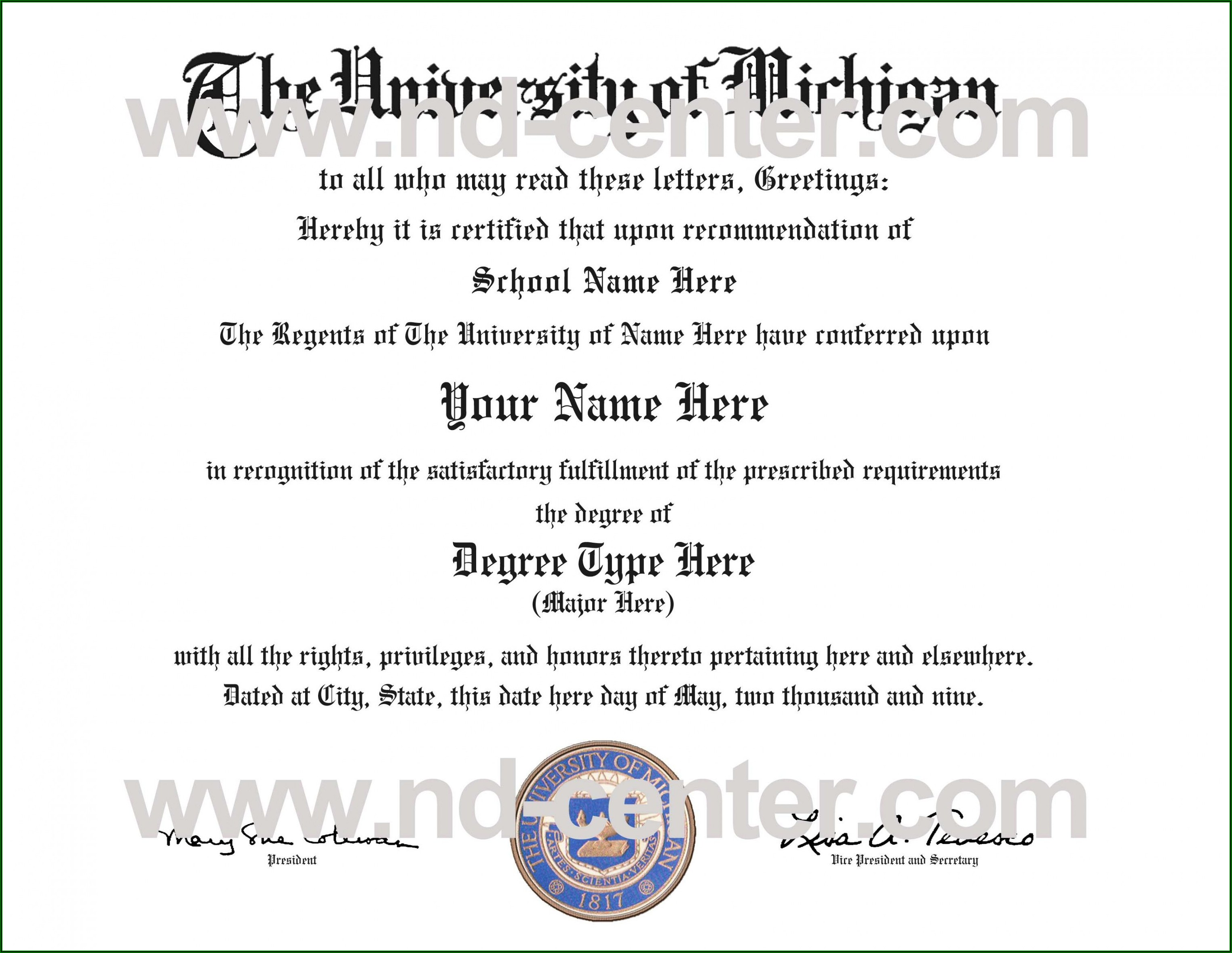 Free College Graduation Certificate Template