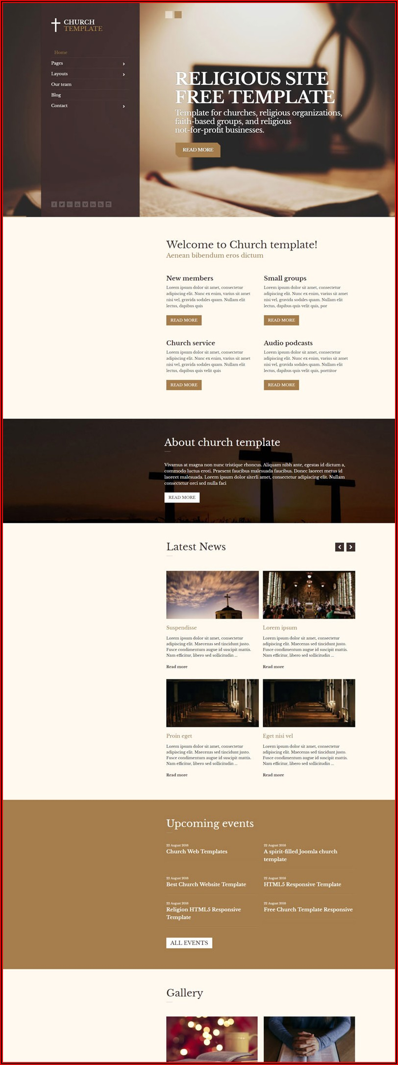 Free Download Website Templates For Churches