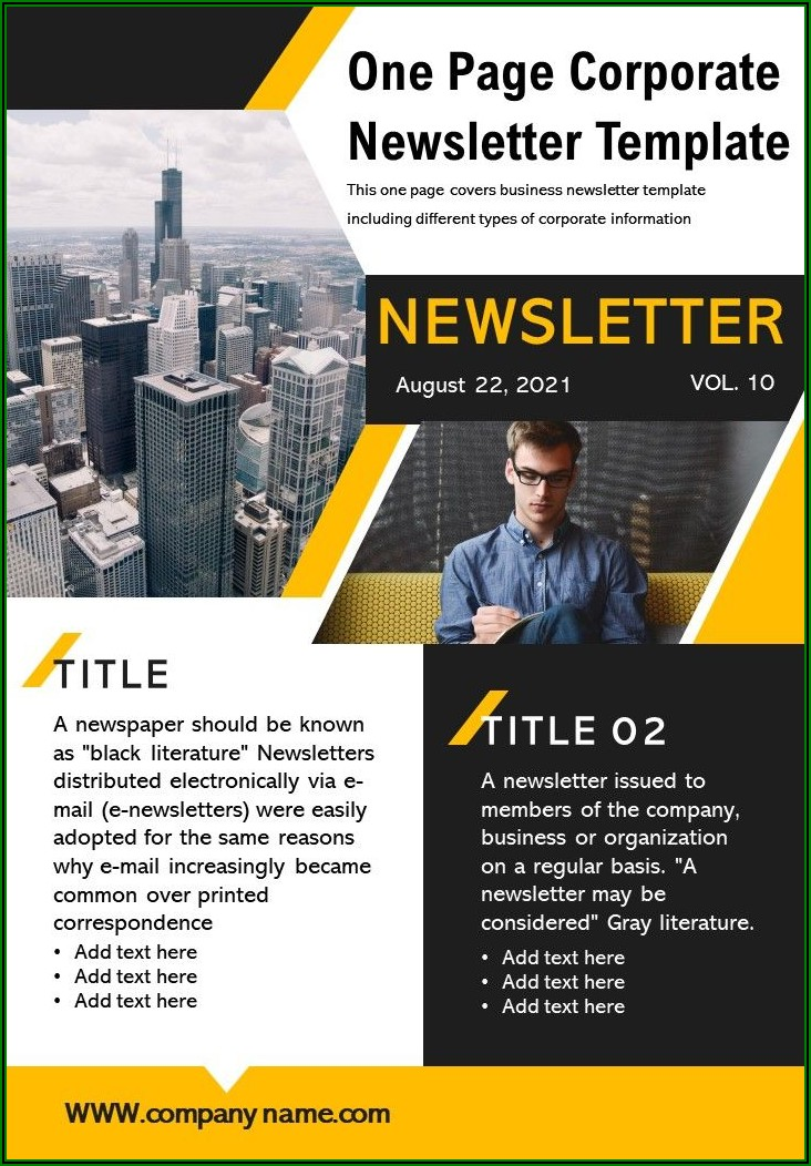 Free Editable Business Newsletter Templates Download