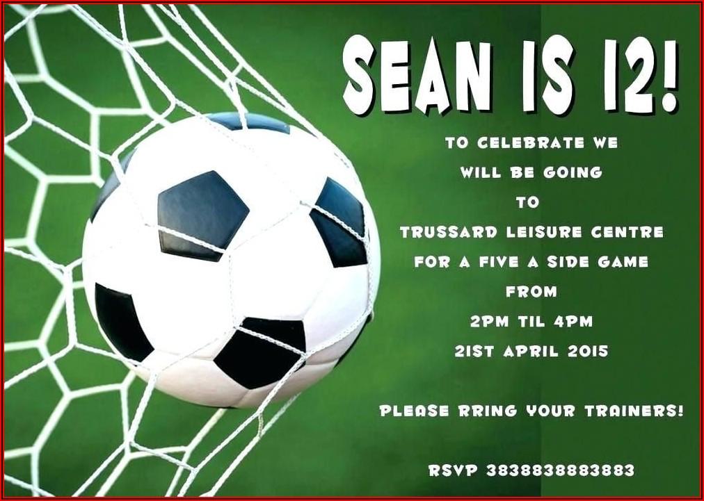 Free Editable Soccer Invitation Templates