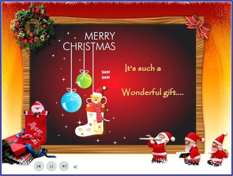 Free Holiday Ecard Template
