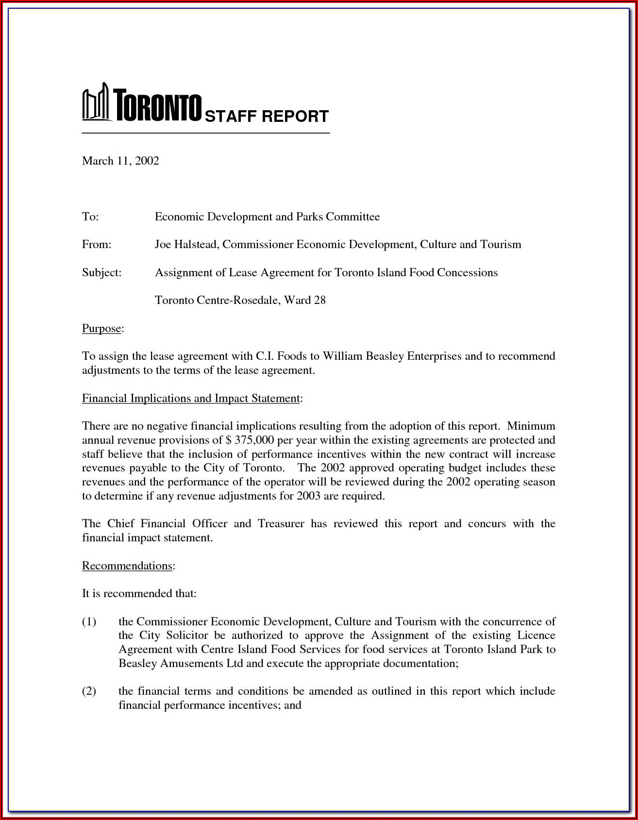 Free Lease Proposal Template Word