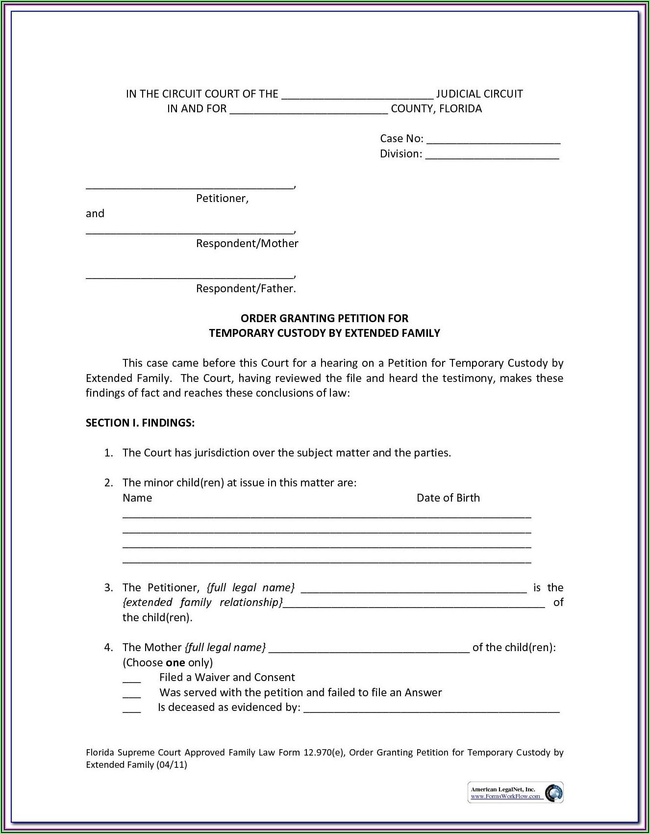 Free Legal Separation Forms Indiana