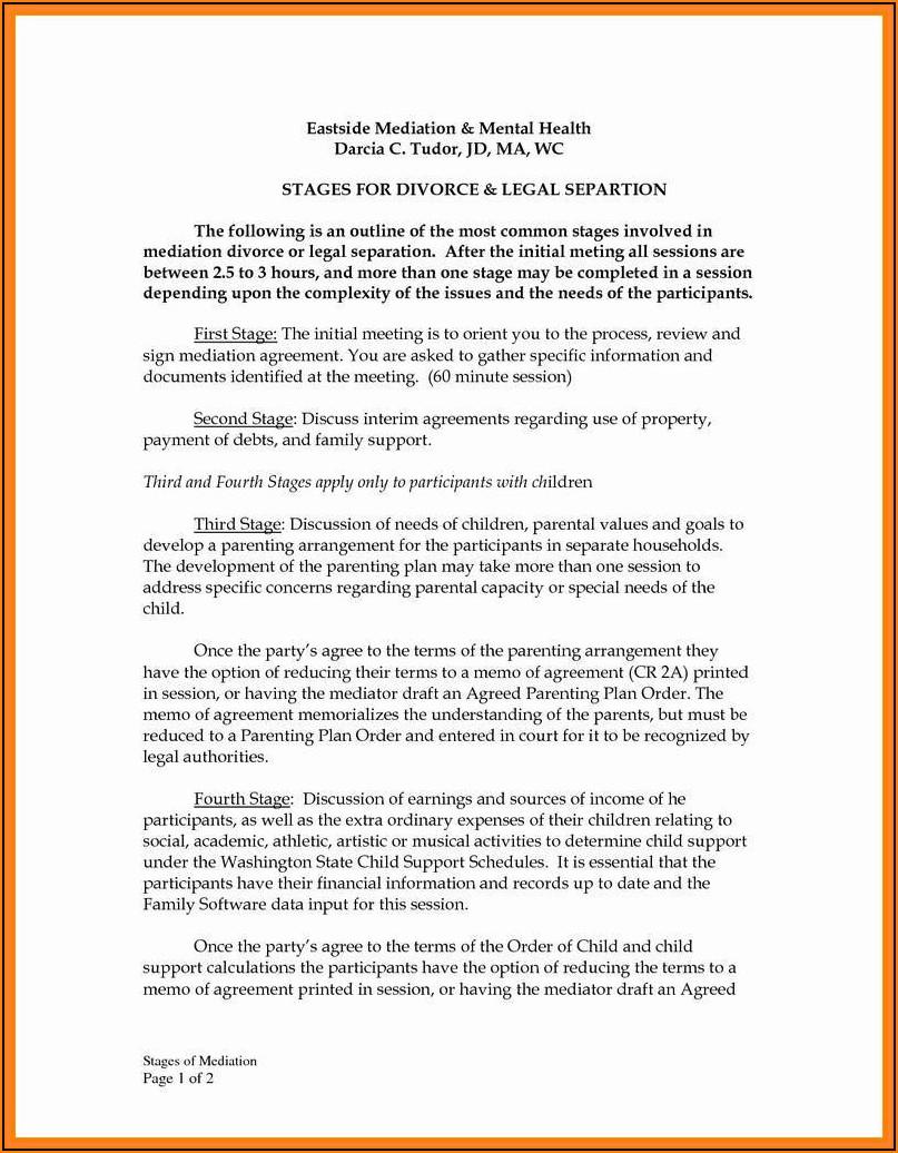 Free Prenuptial Agreement Form Washington State