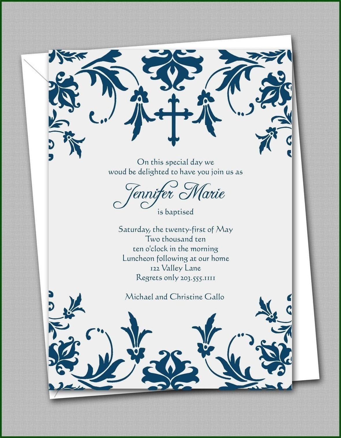 Free Printable Confirmation Invitation Templates