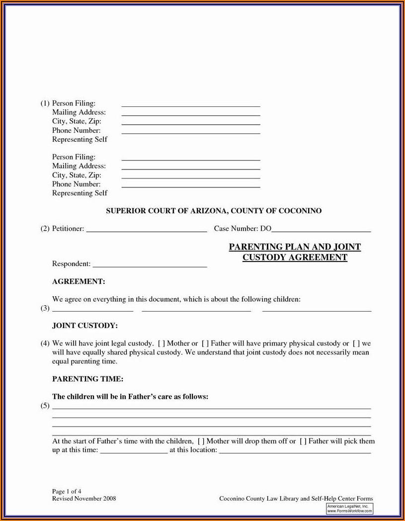 Free Printable Emergency Custody Forms