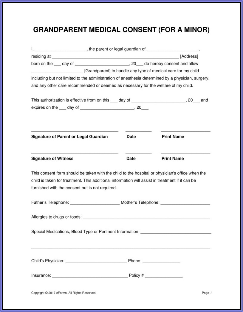 Free Printable Hipaa Consent Forms
