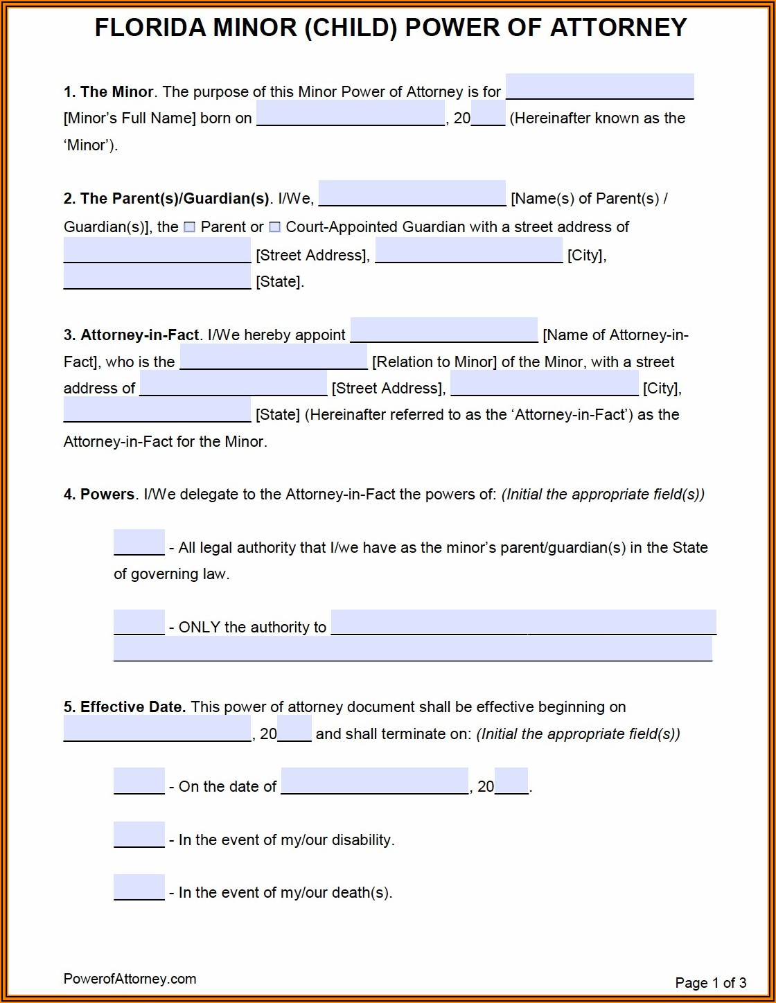 Free Printable Power Of Attorney Forms For Pennsylvania