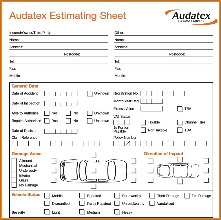 Free Printable Vehicle Inspection Sheet Template