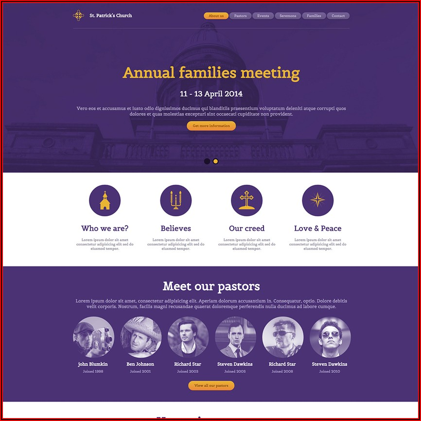 Free Responsive Website Templates For Churches