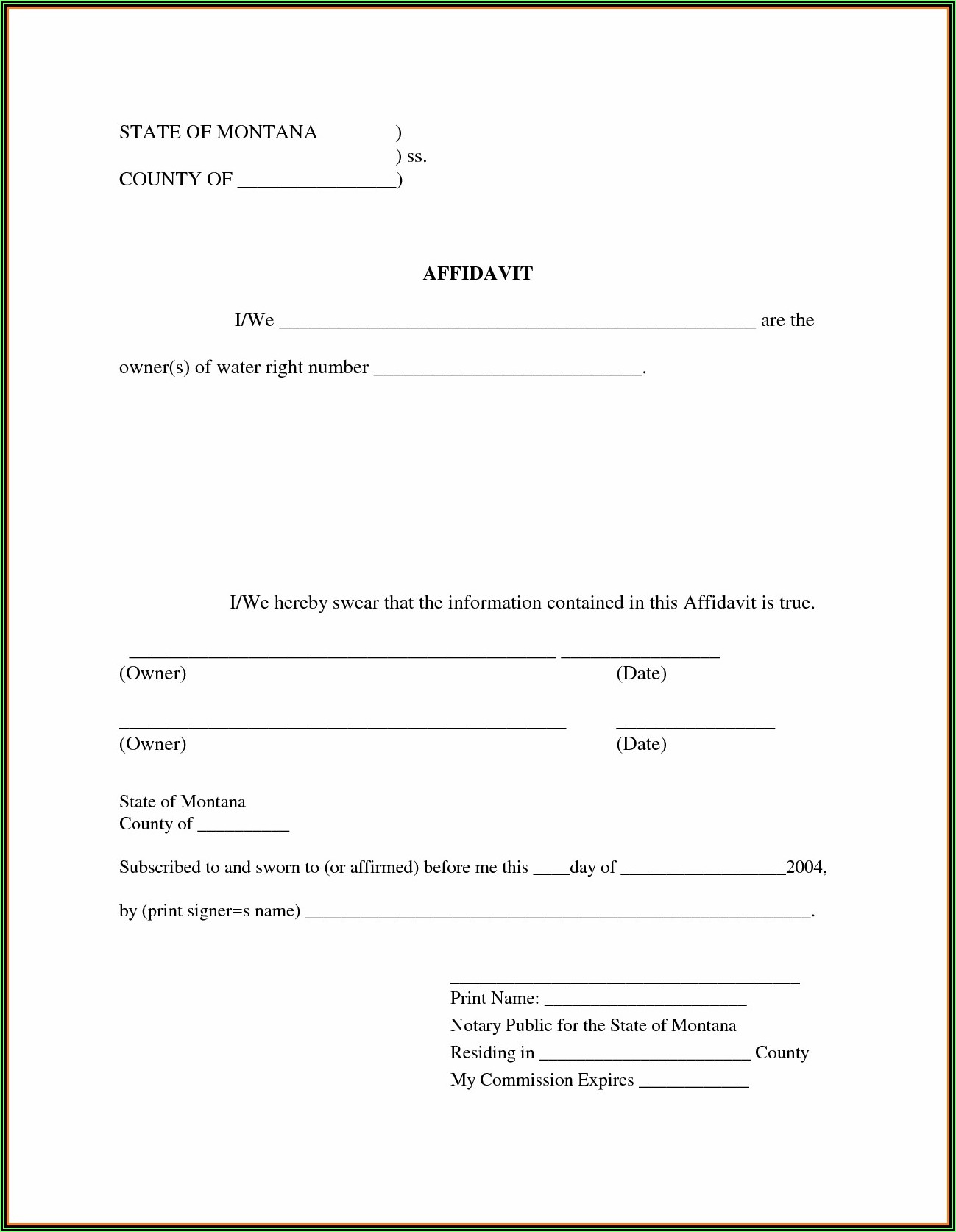 Free Sample Iou Form