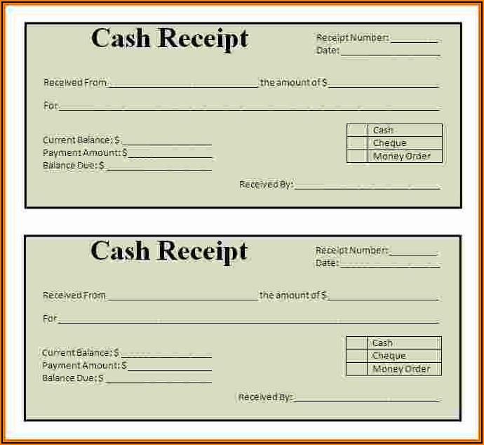 Free Simple Cash Receipt Form