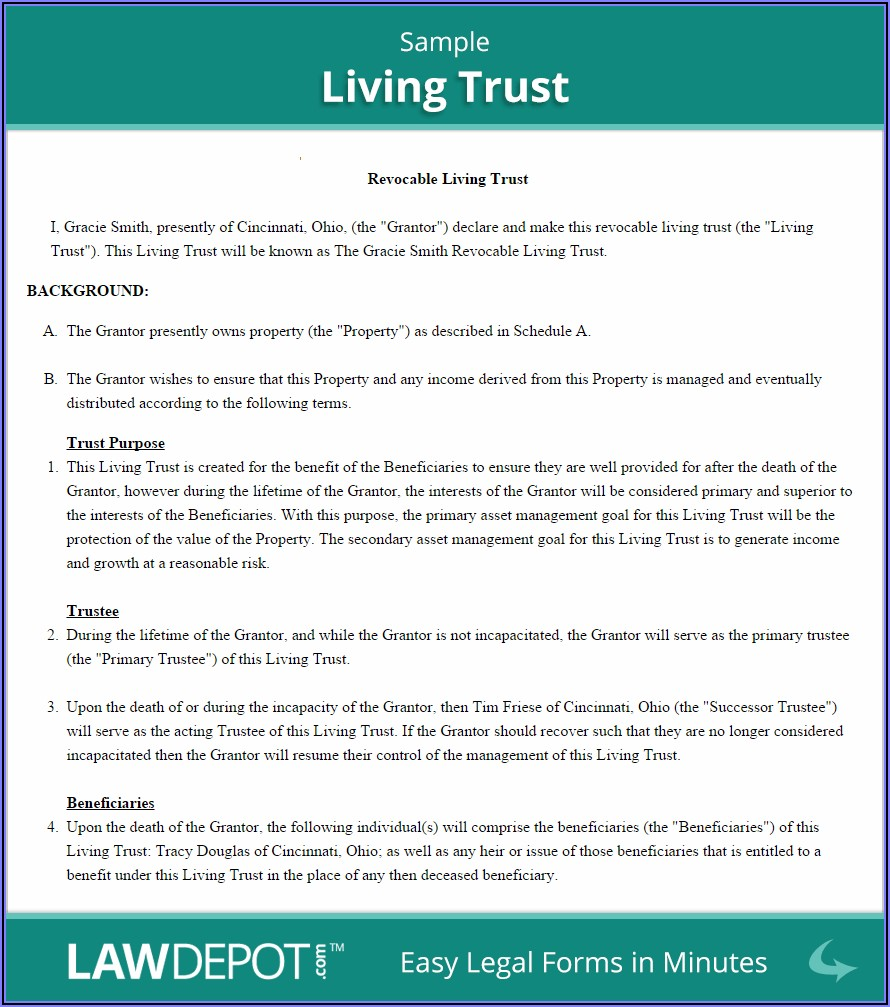 Free Simple Irrevocable Trust Form