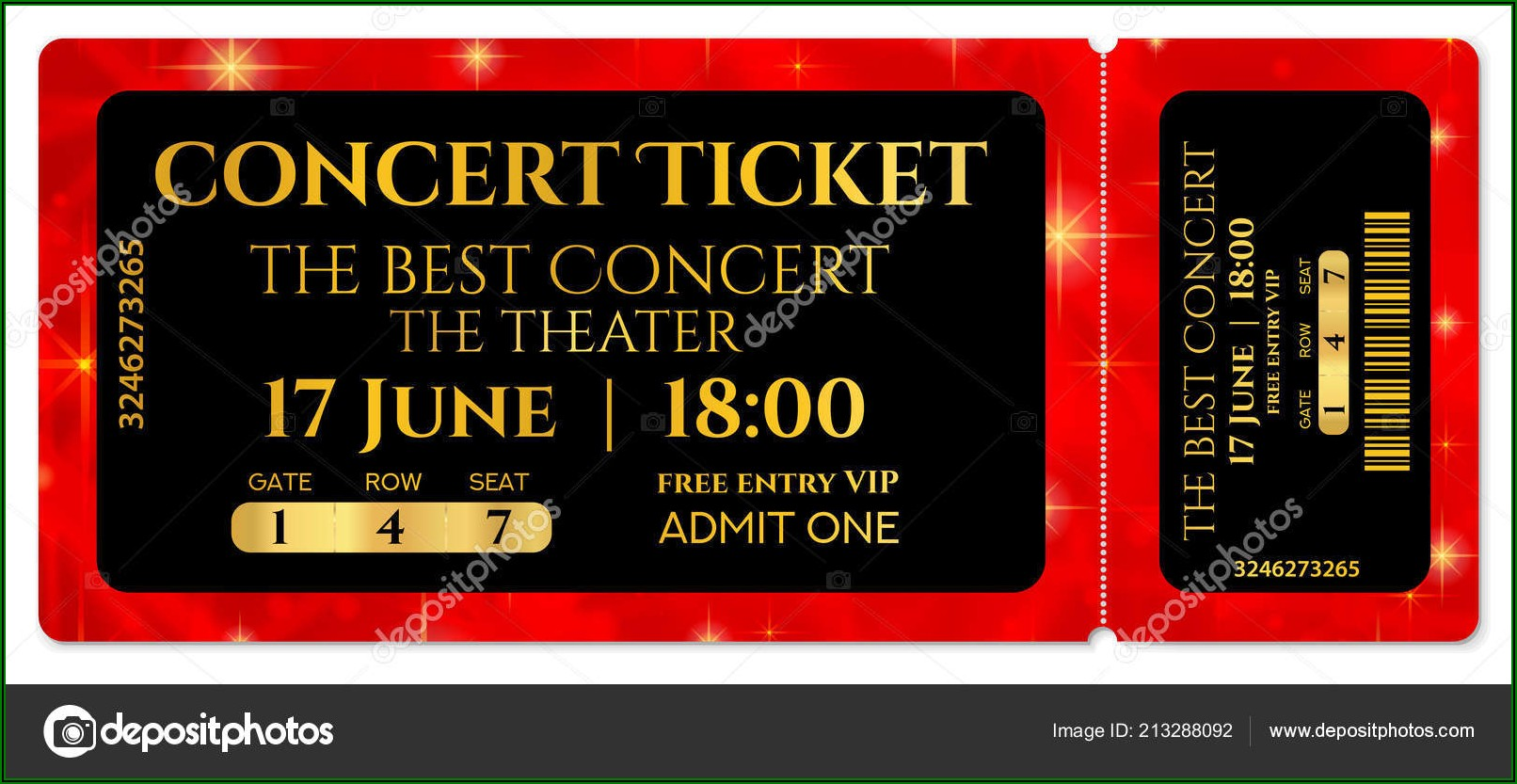Free Template For Concert Ticket Gift