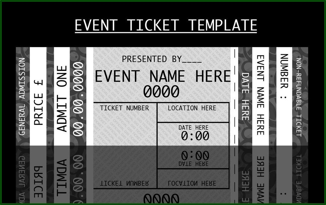 Free Template For Concert Ticket