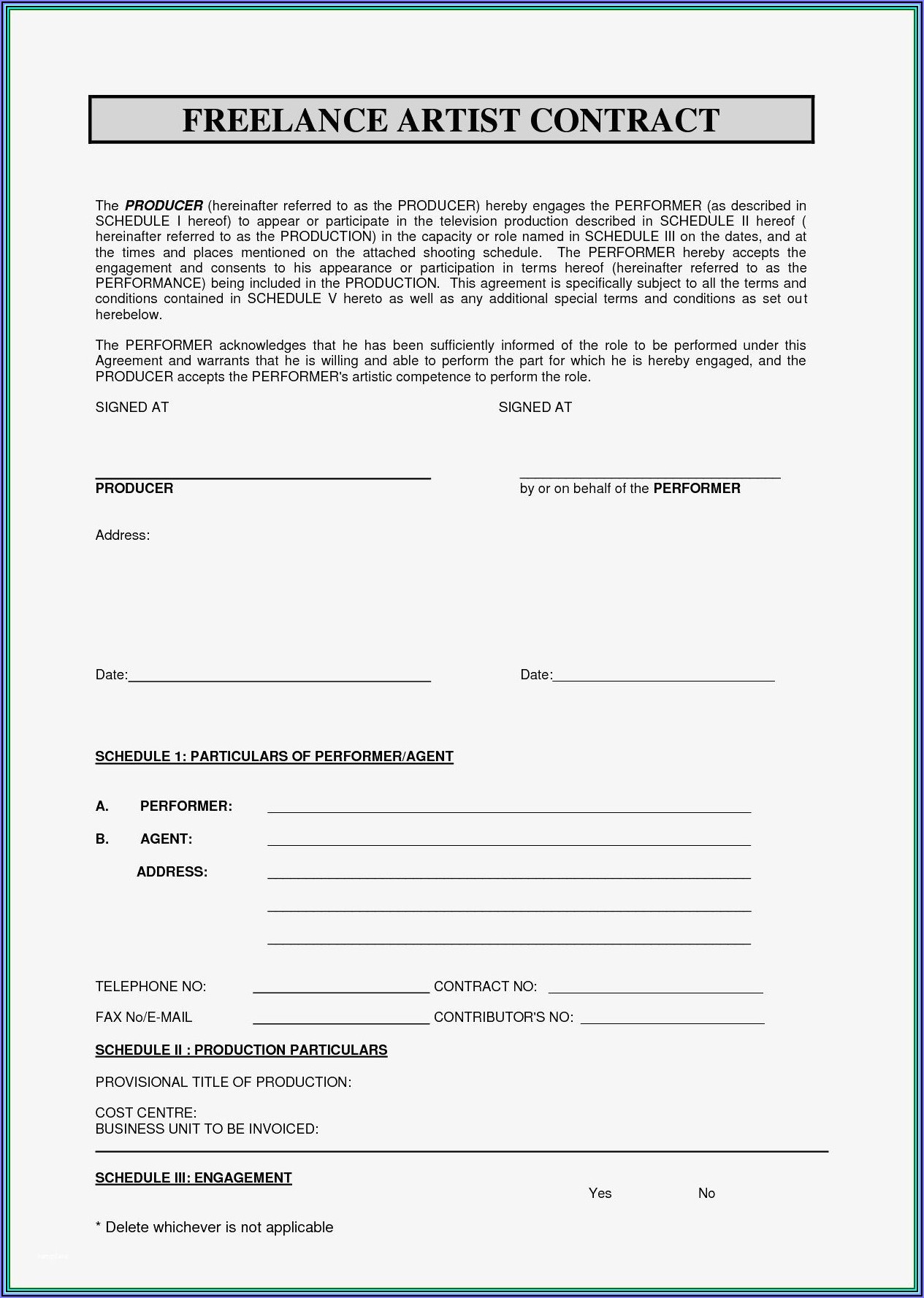Freelance Software Developer Contract Template