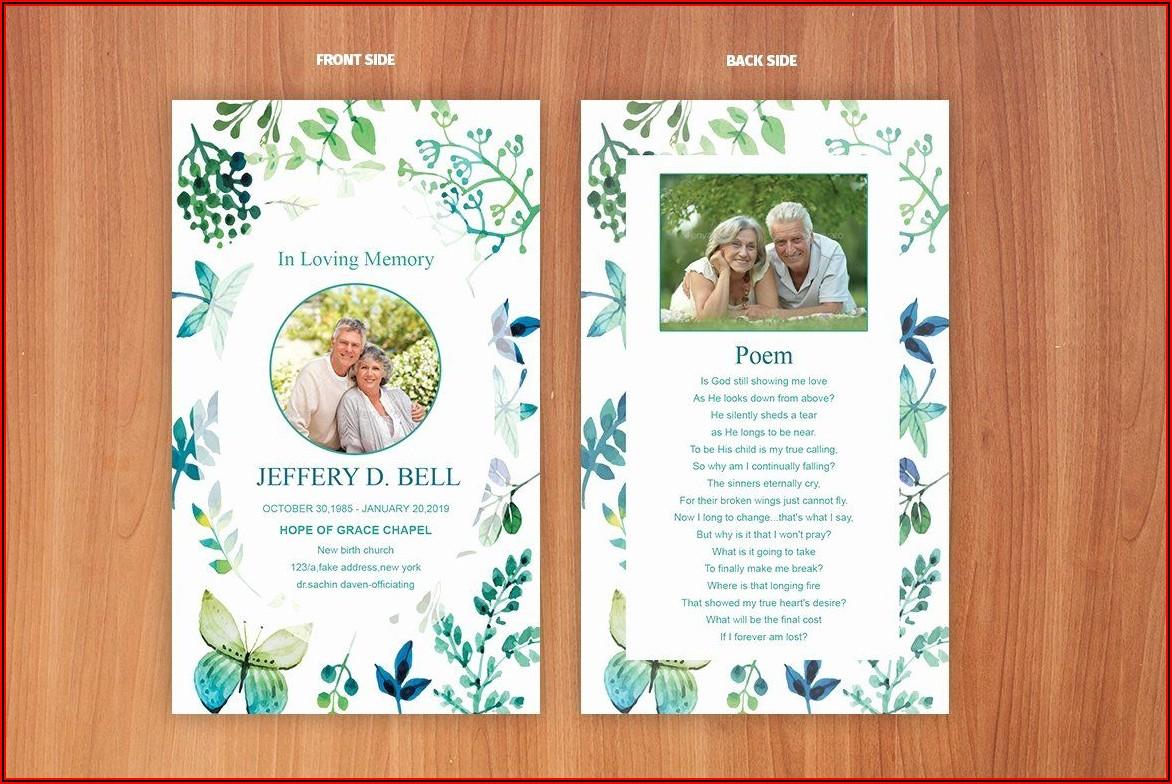 Funeral Prayer Card Templates Free