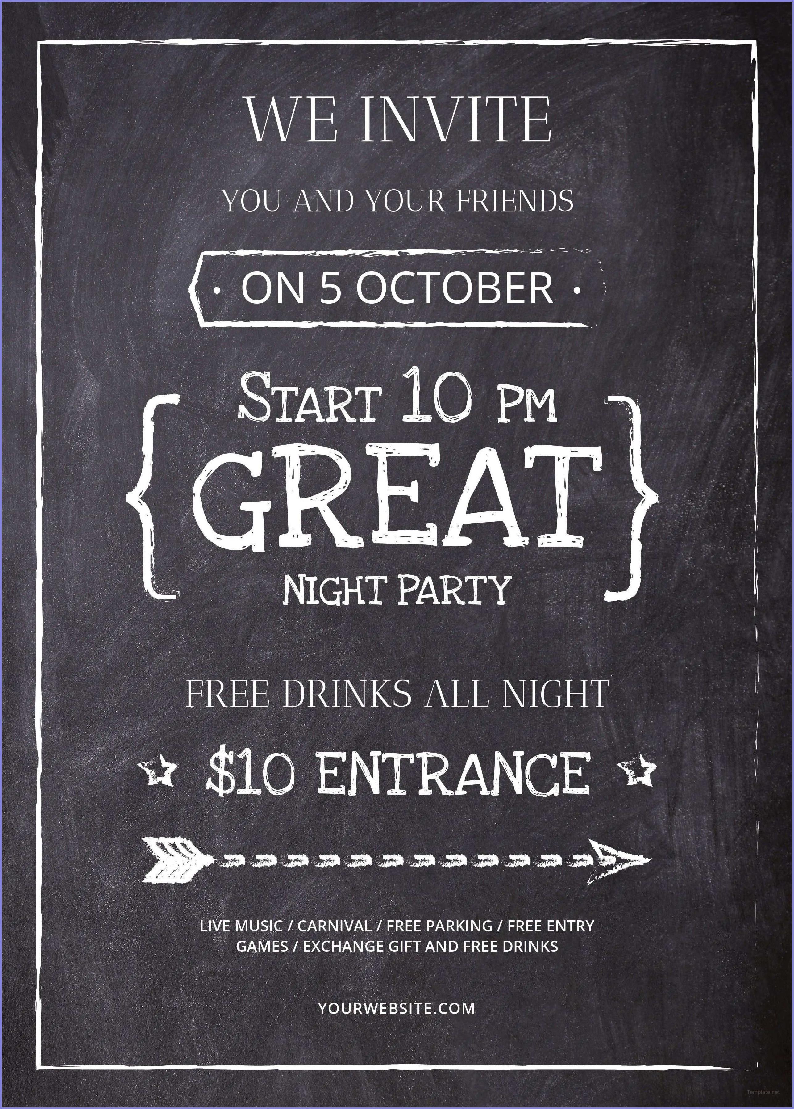 Game Night Invitation Template Free