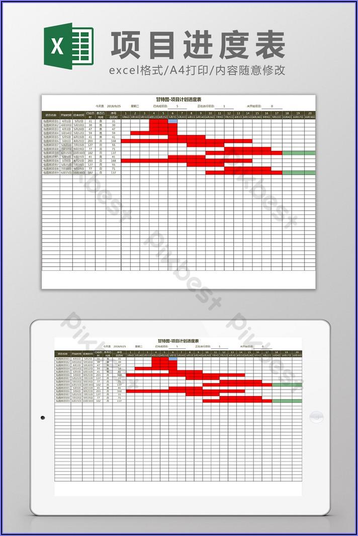 Gantt Schedule Excel Template