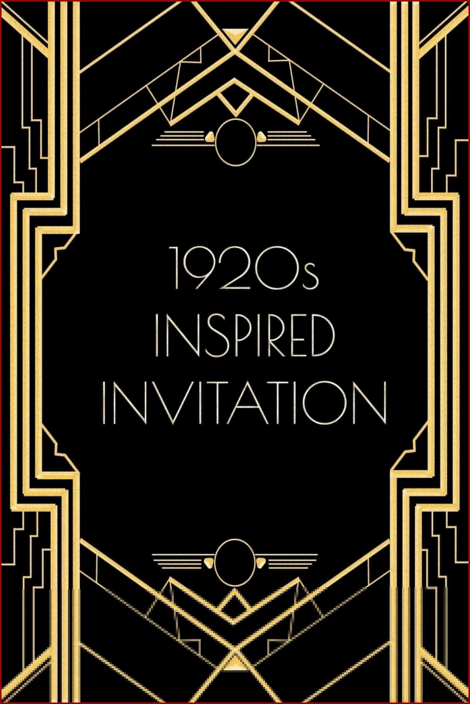 Gatsby Invitation Template Free