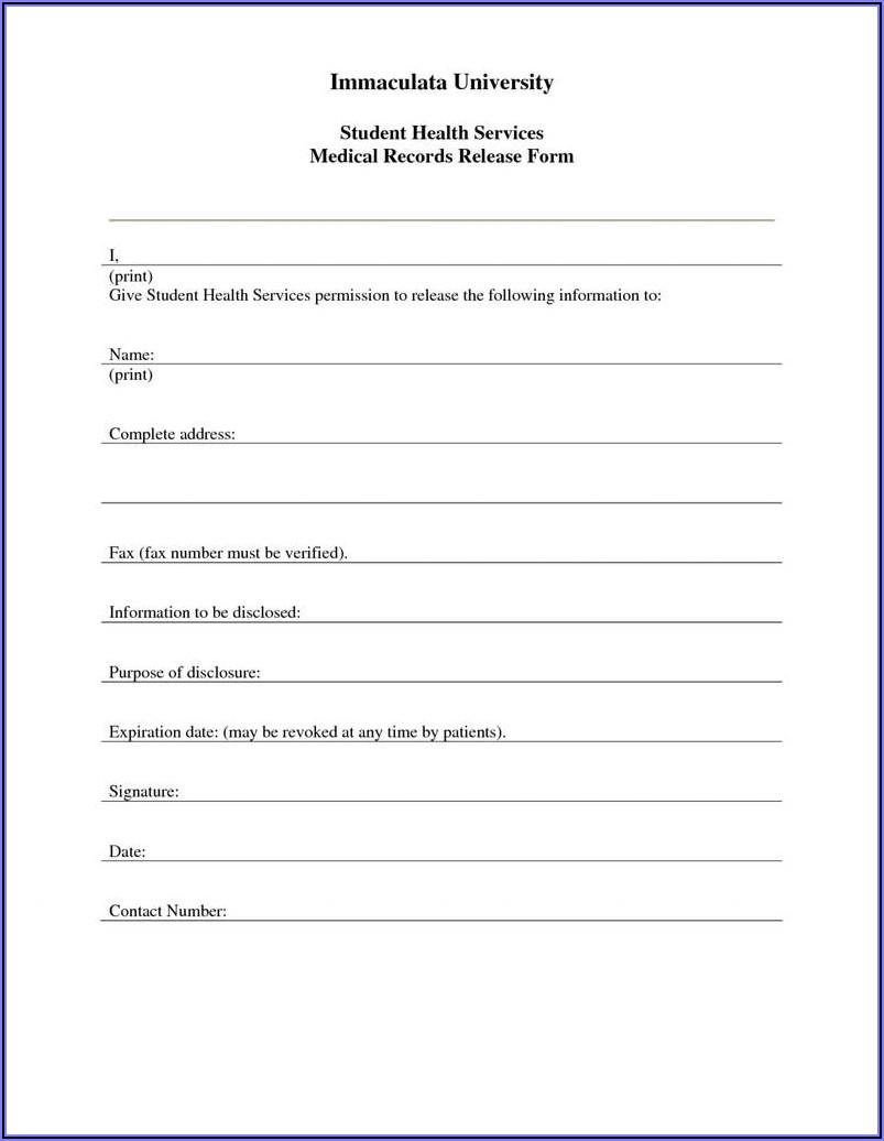 General Hipaa Release Form California