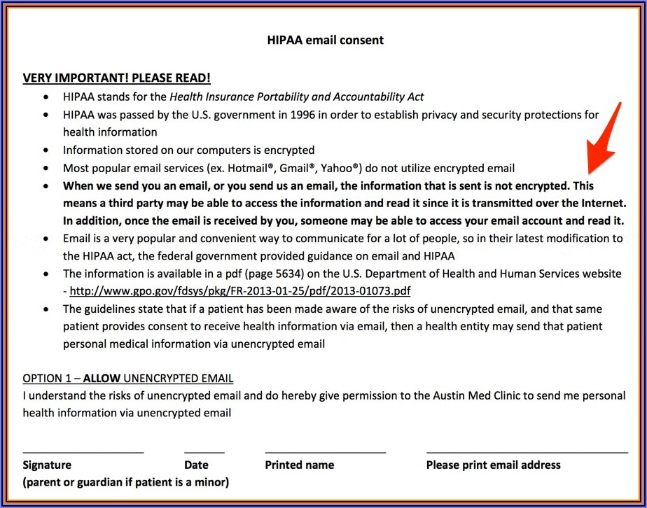 General Hipaa Release Form Texas
