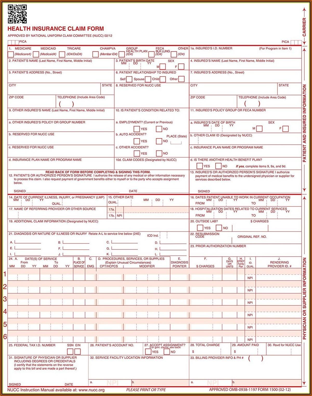 Hcfa Form 1500 Tricare