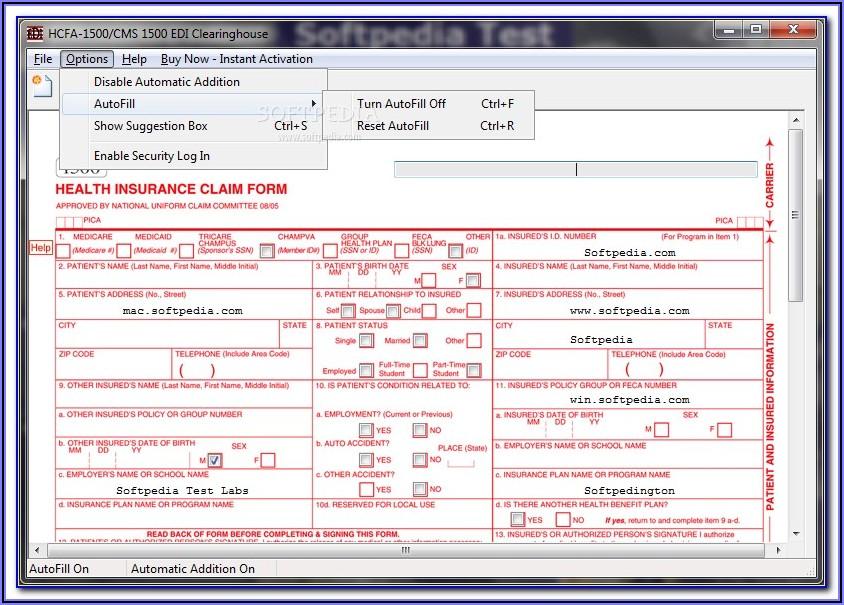 Hcfa Form Example