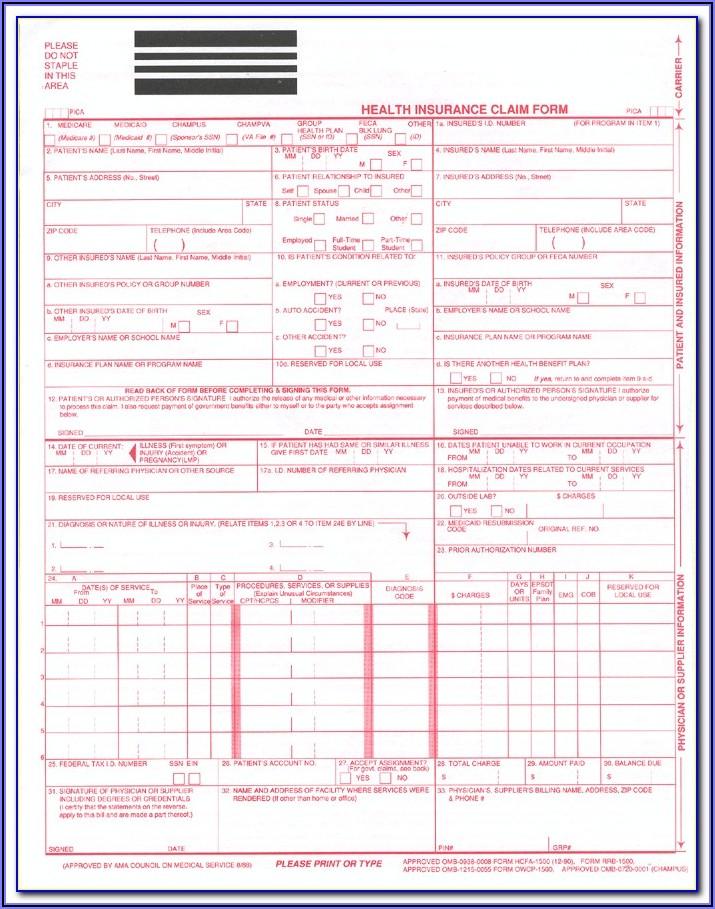 Hcfa Form Sample