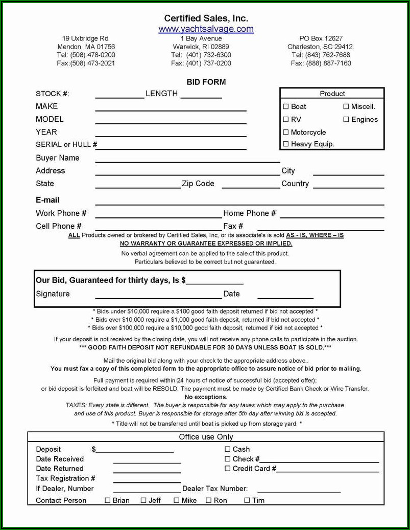 Home Rental Contract Form