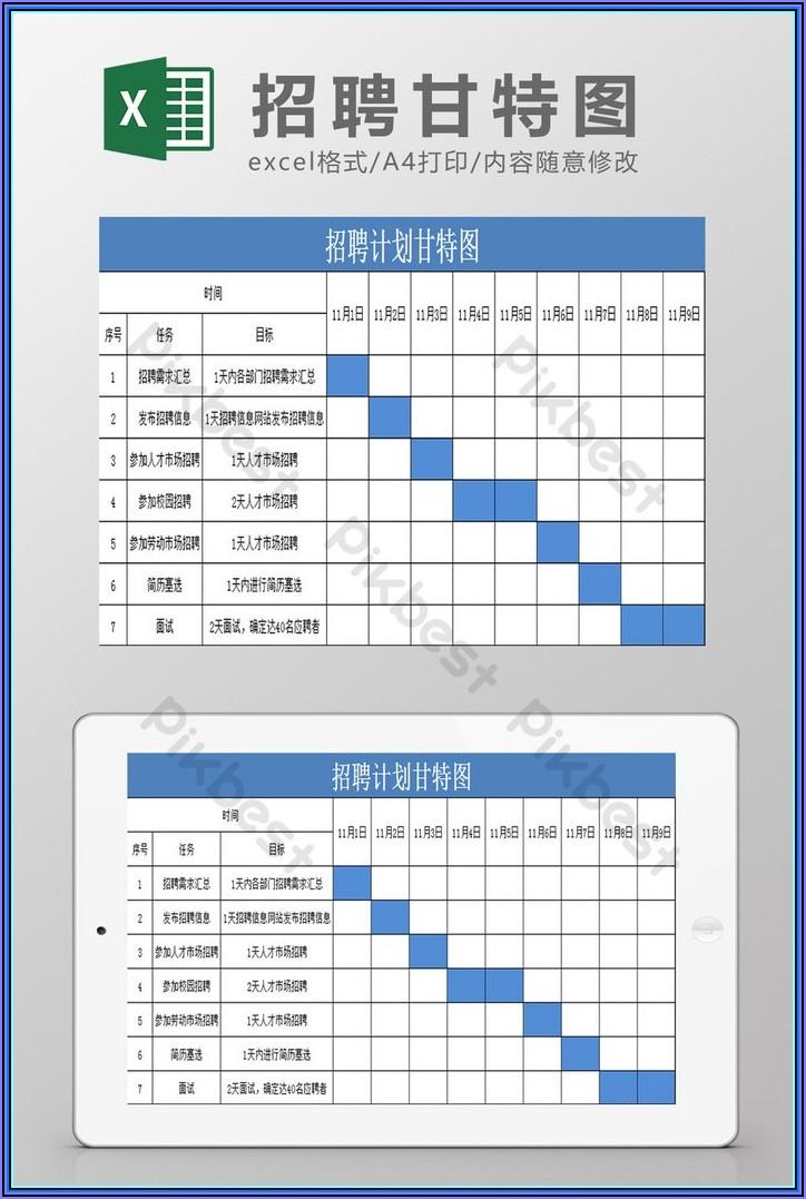Hourly Gantt Chart Excel Template Free