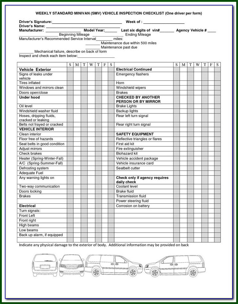 House Inspection Checklist Form