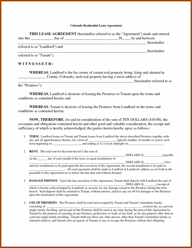 House Lease Forms