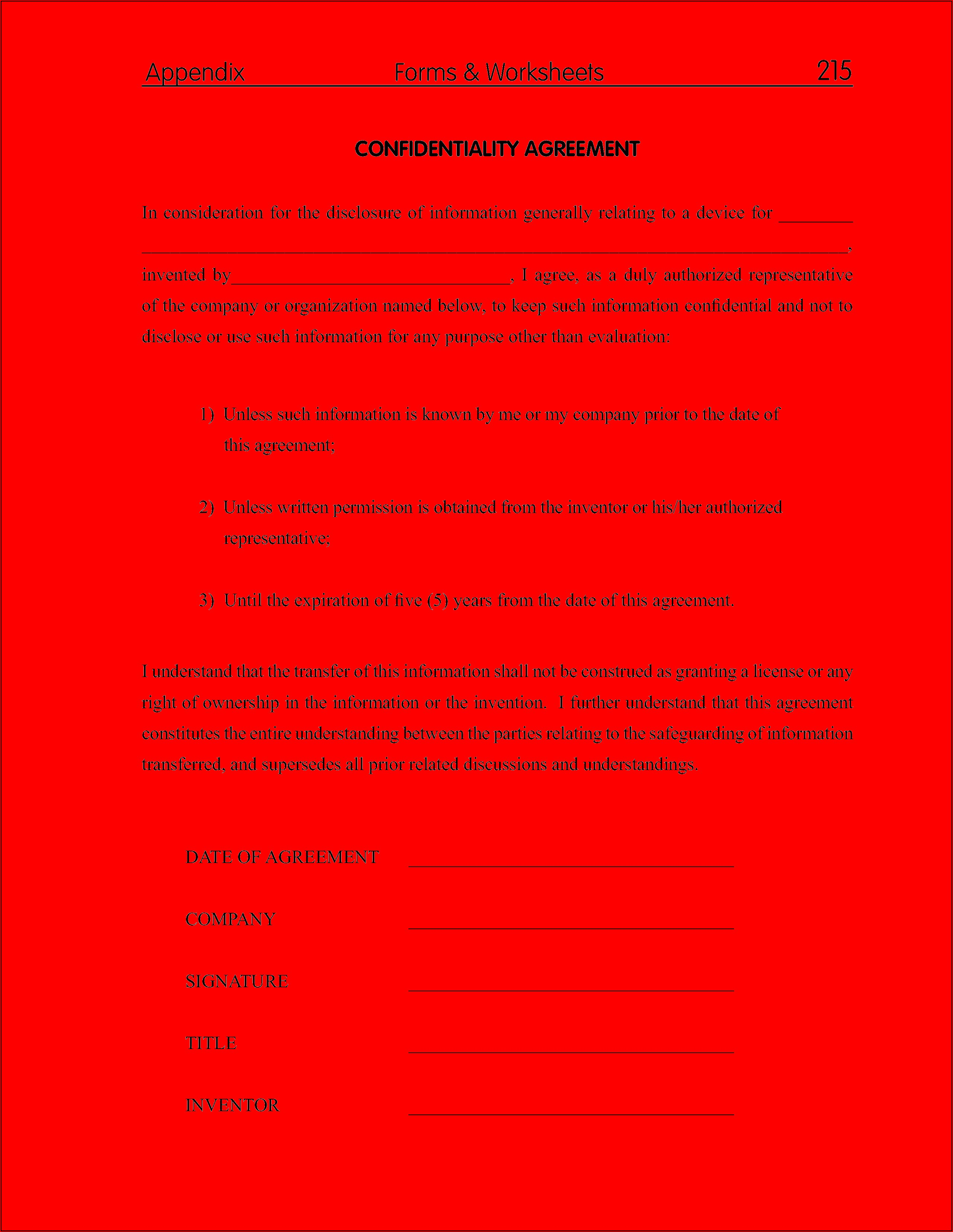 Hr Confidentiality Agreement Sample
