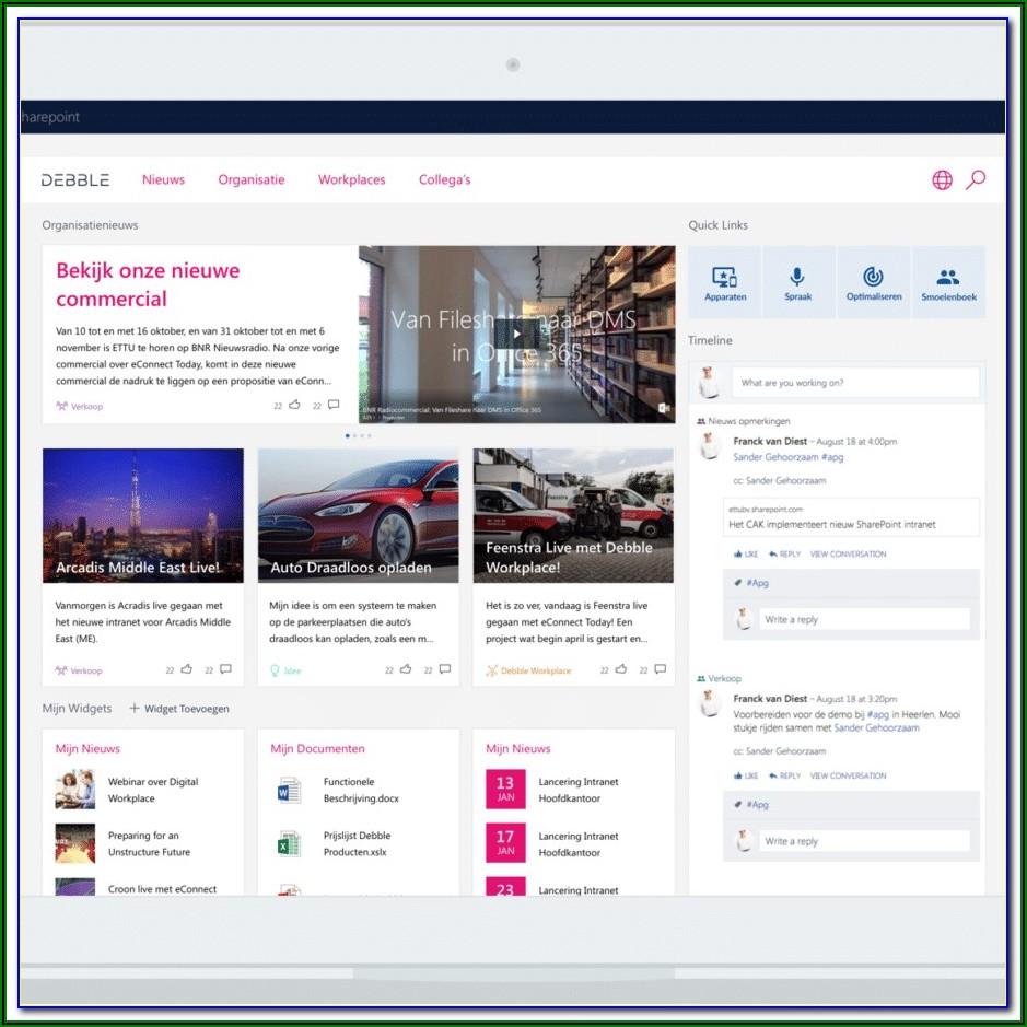 Html5 Intranet Portal Templates