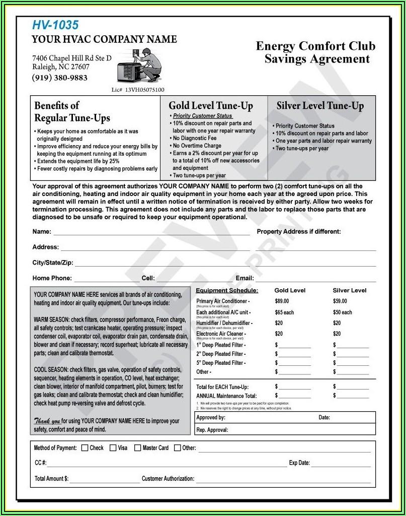 Hvac Preventive Maintenance Forms Pdf