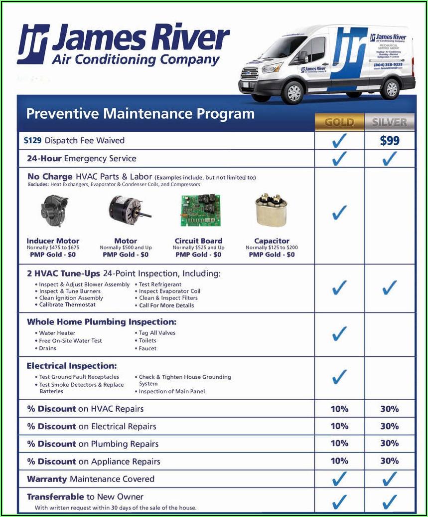 Hvac Preventive Maintenance Forms