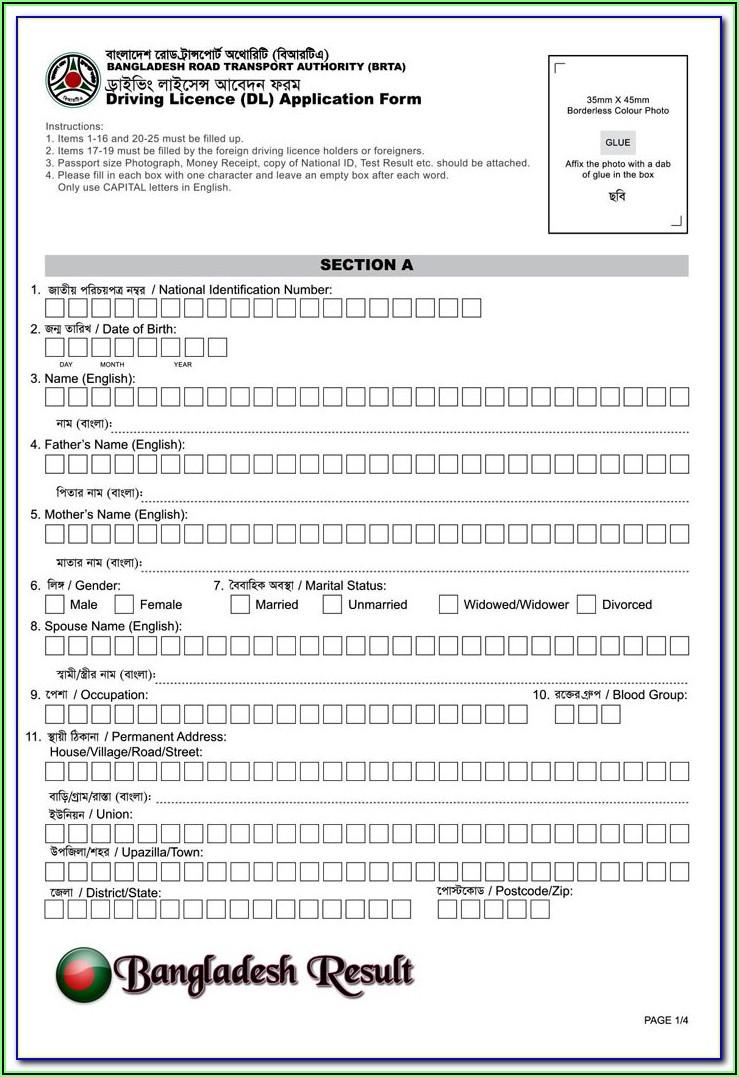 International Driving License Application Form