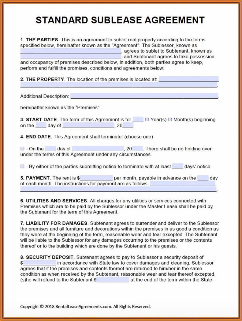 Land Rental Agreement Format In Word
