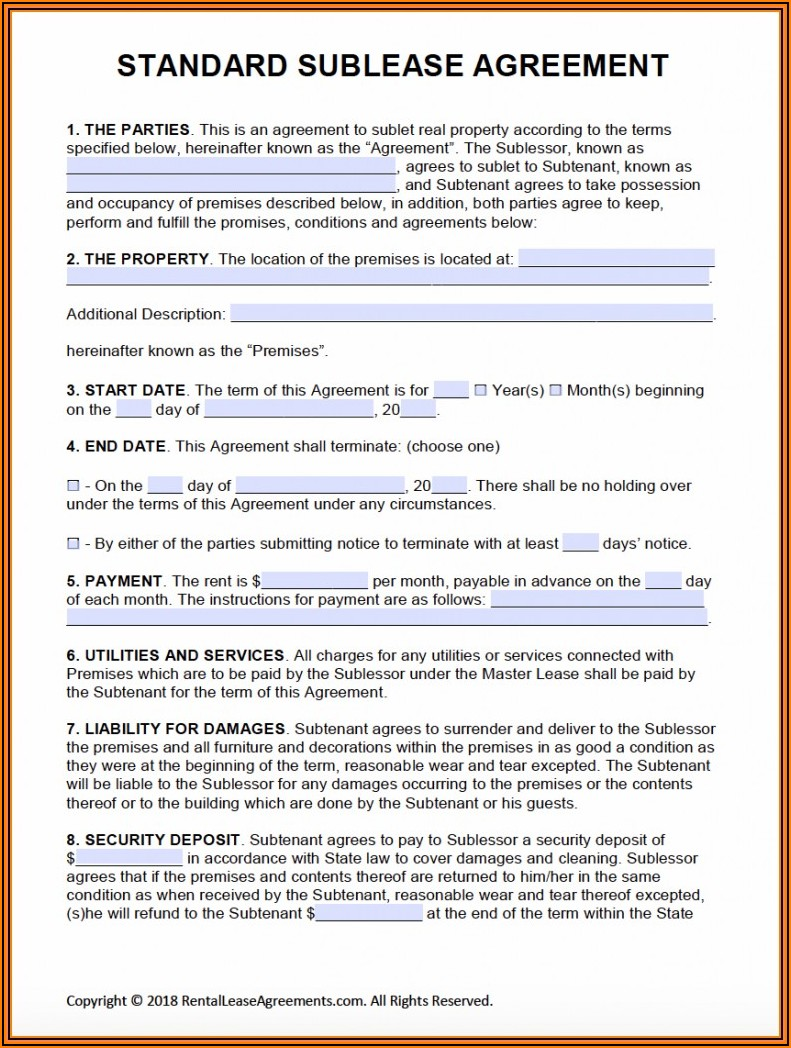 Land Rental Agreement Format