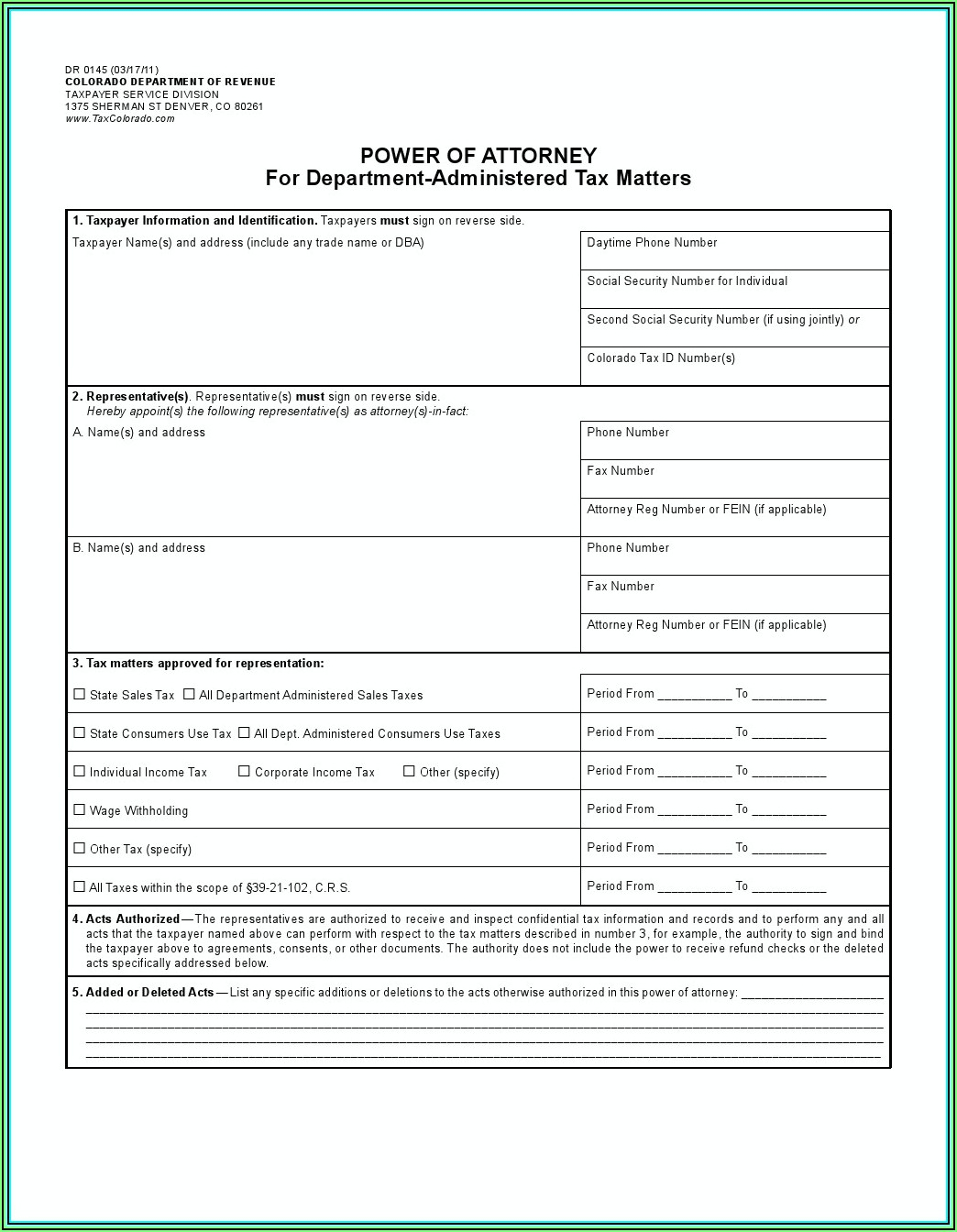 Lasting Power Of Attorney Forms Download