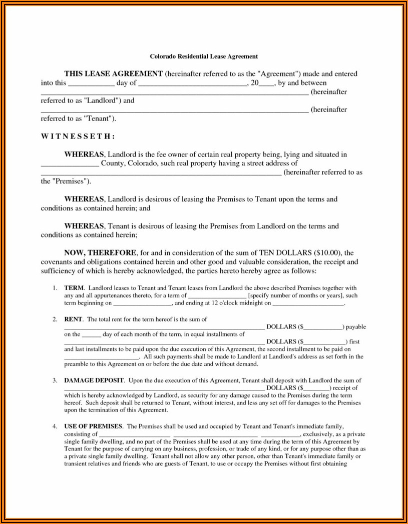 Lease House Application Forms
