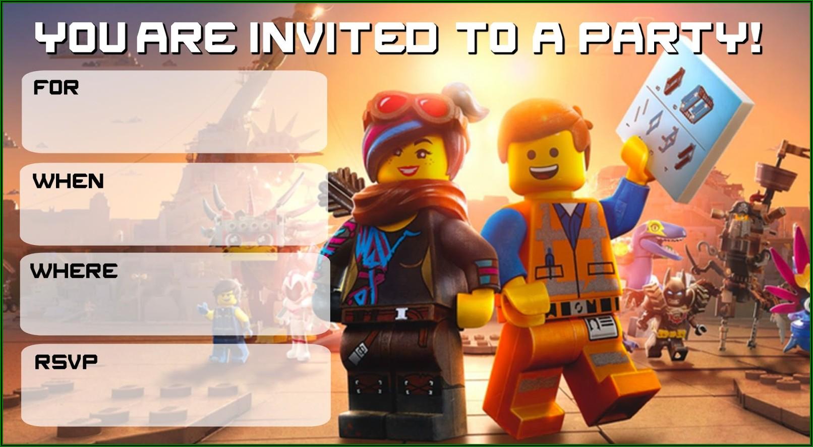 Lego Movie Birthday Invitations Templates Free